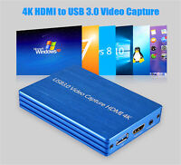 4K HDMI to USB 3.0 Video Capture Box Dongle 1080P FHD 60fps / HD Video Recorder