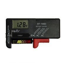 Digital Battery Tester Checker for Aa Aaa C D 9V 1.5V Button Cell Batteries