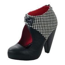 T U K Rocket Heel Victoria Ankle Boot Ladies Size UK5 A8392L