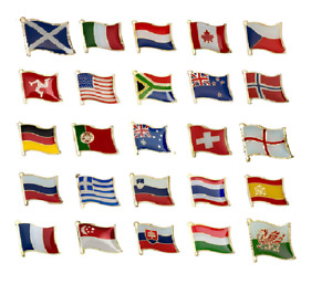 NATIONAL COUNTRY Metal Pin Badge Choose your own country Pin Badges