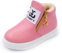 Girls Boots Thick Warm Shoes For Girls Top Quality Baby Zipper Snow Boots Winter