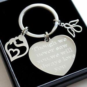 Personalised Baby Loss Memorial Keyring Any Engraving Remembrance Keepsake Gifts