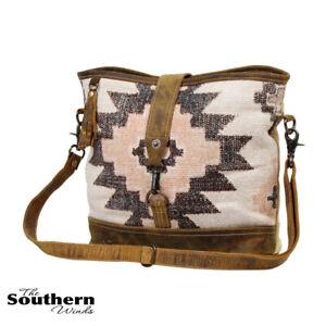 Myra Bag Entice Shoulder Bag - Canvas, Rug, and Leather Bag