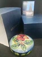 Beautiful Moorcroft, Simeon Pattern, Round Covered Powder Bowl. By Philip Gibson