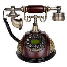 Kmise Retro Vintage Antique Style Push Button Dial Desk Telephone Phone Home Use