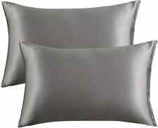 Satin Pillowcase,Slip Cooling Satin Pillow Covers with Envelop closure
