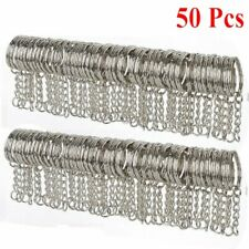 50 Pcs DIY Key Rings Key Chain With Link Chain Key Holder 25mm Wholesale