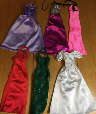 BARBIE & FRIENDS 6 LONG DRESSES LABELED mixed lot #7