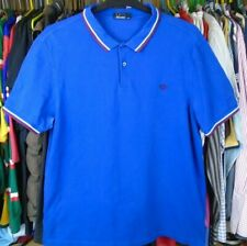FRED PERRY ROYAL BLUE TWIN TIPPED COTTON POLO PIQUE SHIRT TOP XXL