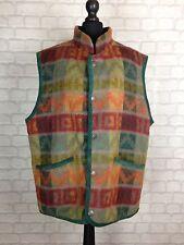 Rétro Vintage Aztèque Urban Tribal Navajo Surdimensionné Festival gilet veste manteau L