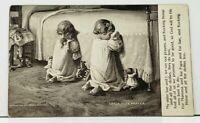 Little Tots' Prayer Children Bedside with Toys Praying 1906 udb Postcard I20