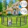 24'' Outdoor Indoor 8 Panel Heavy Duty Folding Pet Playpen Dog Exercise Fence