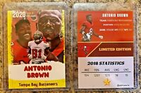 2020 Antonio Brown Limited Edition Tampa Bay Buccaneers Card. Only 1,000 Made