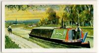 English Horse Drawn Water Canal Barge Ships Vintage Trade Ad Card