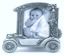 Pewter Car Baby Frame, Car Shape Pewter Baby Frame, Engravable Pewter Baby Frame