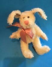 "Boyds Collection White Mohair Rabbit ""Dolly Q Bunnycombe"" 8"" -Flexible Ears"