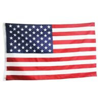 USA US U.S 3'x5' FT American Flag National Stripes Embroidered Stars Brass
