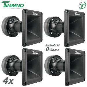 """4x Timpano TPT-DH175 1"""" Ferrite Compression Driver 1in Exit Waveguide Pro Audio"""