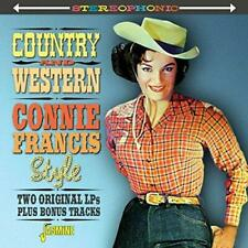 Connie Francis - Country & Western Connie Francis Style - Two Original  (NEW CD)