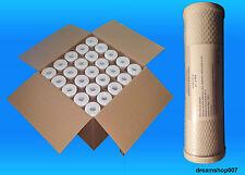 25 Filtri Carbone Attivo CTO Depuratore Addolcitore 10'' Stock SPEDIZIONE GRATIS