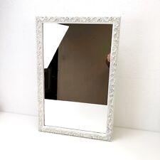 Vintage Metal Bathroom Medicine Cabinet Wood Framed Mirror 1960's