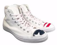 Converse Chuck Taylor All Star Hi USA Flag Toe Cap WHITE Sneakers 153911C