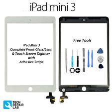 NUOVO iPad Mini 3 COMPLETA ANTERIORE VETRO/convertitore analogico-digitale Touch Screen Con Strumenti-Bianco