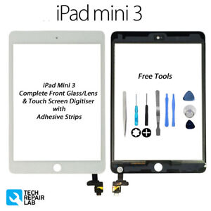 NEW iPad Mini 3 Complete Front Glass Digitiser Touch Screen w/Tools - WHITE