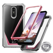 Poetic Guardian Case Full-Body Rugged Clear Hybrid Bumper for LG Stylo 4 Pink