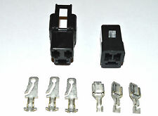 DELPHI PACKARD GM 56 SERIES THREE CONDUCTOR CONNECTOR SET 12  GA.