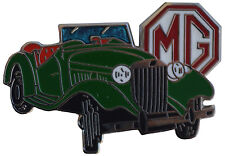 MG TD car cut out lapel pin - Green