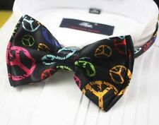 1 x mens bow tie bowtie necktie peace tuxedo red green pink blue yellow ladies