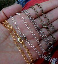 12pcs x 20''Long blank necklace chains with lobster clasp joblot