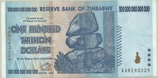 ZIMBABWE P-91 REAL $100 TRILLION BILL ($100,000,000,000,000) + FREE REAGAN BILL!