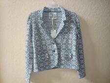 Chelsea & Violet New Womens Grey Multi Print Sweater Jacket Large