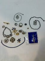 Vintage Fraternal Women's Jewelry Masonic Large Lot See 50 yr pin + more - 44