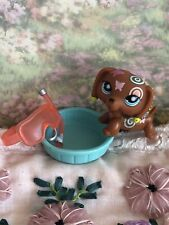 Littlest Pet Shop #1010 Dachshund Postcard Pets Dog Rare AUTHENTIC LPS Hasbro
