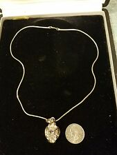 Sparkling Large Sterling Silver 925 Large Cubic Zirconia - sterling necklace.