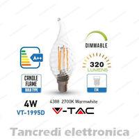 Lampadina led V-TAC dimmerabile 4W = 30W E14 bianco caldo 2700K VT-1995D fiamma