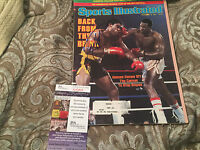 SPORTS ILLUSTRATED MAGAZINE SIGNED WITH JSA COA LARRY HOLMES BACK FROM BRINK