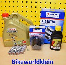 Suzuki GSX-R 1000 Original Ölfilter Luftfilter Zündkerzen Öl Castrol Wartungskit