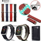 2016 Series 2 1 Leather leder  Strap Wrist Band For Apple Watch iWatch 38/42mm