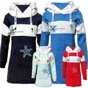 SEESTERN Kinder Langes Kapuzen Sweat Shirt Pullover Hoody Sweater Gr.116-164 /21