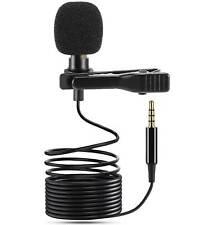 Microfono Lavalier Omnidirezionale Clip CRAVATTA BAVERO Jack 3,5mm SmartPhone PC