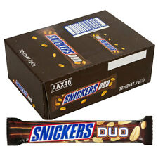 Full Box of Snickers Duo 83.4g Chocolate Bars Free P&P only £22.99