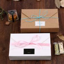 10pcs Kraft Paper Cookie Packaging Bags Envelope Biscuit Storage Gift Box UK