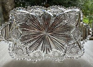 """Unger Bros.American Brilliant Hobart Pattern 13 3/8"""" Serving Tray c.1900"""
