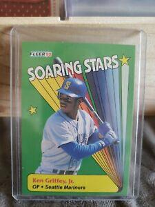 1990 Fleer #6 Ken Griffey Jr. Soaring Stars Seattle Mariners HOF