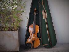 Excellent 4/4 German vintage Violin, GSB wood case, antique bow, circa 1930
