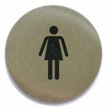 Türschild Edelstahl selbstklebend WC Damen Piktogramm Tür Schild Schilder NEU